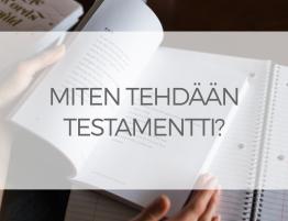 Testamentin Muotovaatimukset